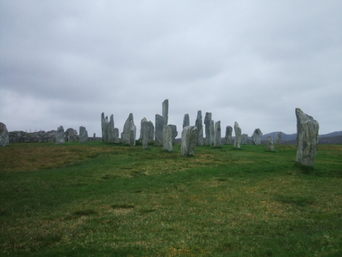 the standing stones of callanish.there was sign saying dont venture off the pathway but people did.