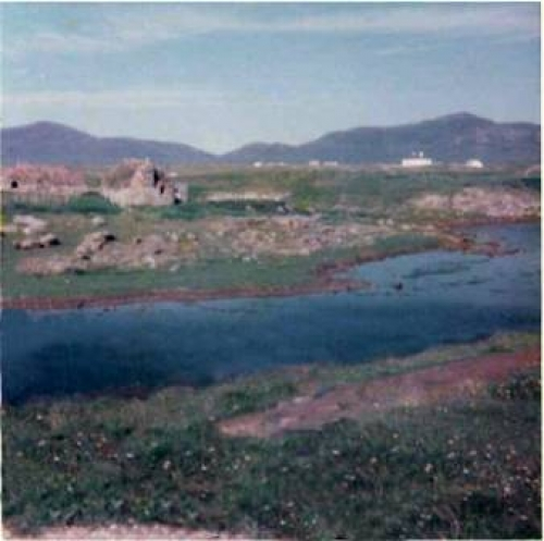 This is the only photo (to my knowledge) that exists of my (Grannies Heilan Hame) - 455 Strome, North Lochboisdale, South Uist. No longer there sadly. Just in front of Strome Bridge (Left side) over the water. If anyone has another photo, I would love to have a copy and will pay any costs.Anne Marie Barr (nee MacKinnon)annebarr38@hotmail.comFor the benefit of the locals my Grannie was Maggie-Jane Docherty (M/S Steele)& her brother was Donald Alex.