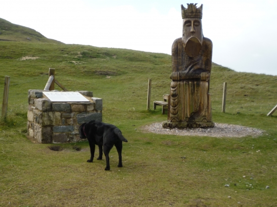 Wendy is intrigued by the Lewis Chessman.