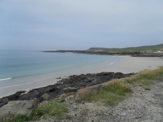 Beach in Barra - from Kodak point on a cycle trip.