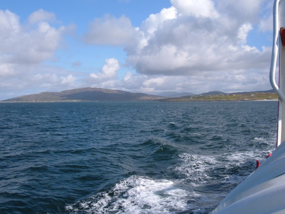 Leaving Eriskay for a day trip to Barra.