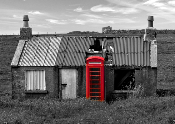 The Old Post Office(?} near Eoradale, Lewis.