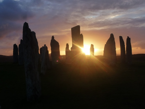 Equinox sunset at Callinish