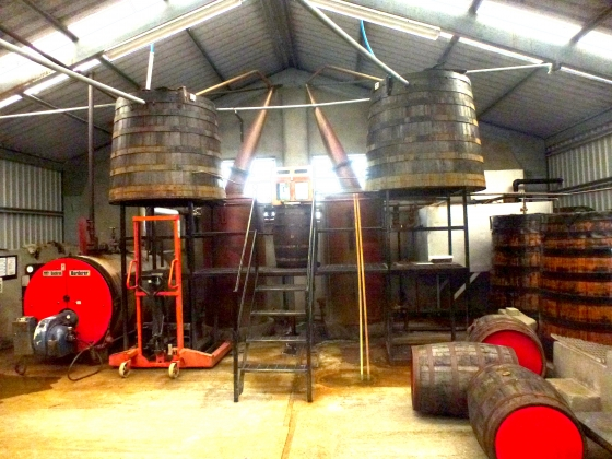 The still room of the Abhainn Dearg distillery, by Traigh Uige.(sorry about the image quality)
