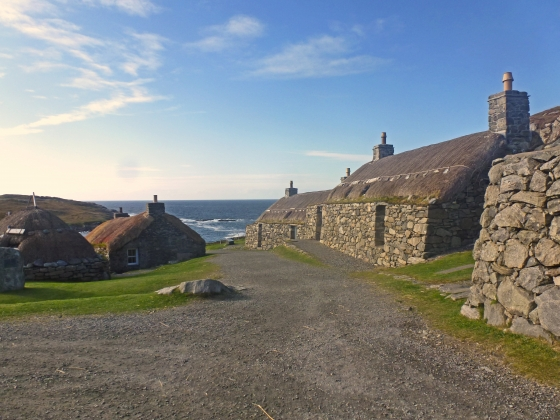 The Blackhouse village at Carlabhagh