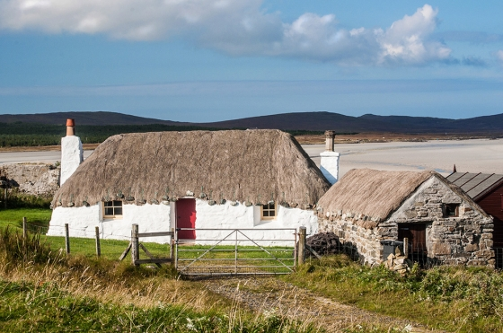 I waited a while to get the best shot of a cottage with everything lined up – light, background, and sky. Struan Cottage on Vallay Strand on northwest ofNorth Uist met all my requirements and the image was a finalist in the 2015 photograpy contest of McKinlay Kidd. © Photos by Pharos 2014