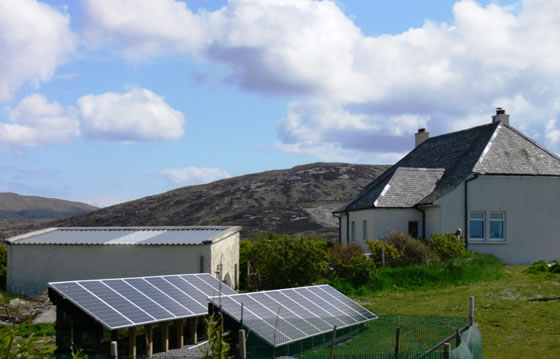 Solar panels South Uist